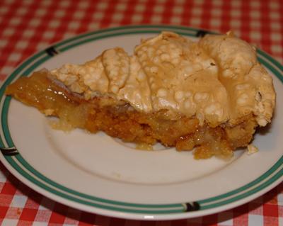 recept äppelkaka knäckig